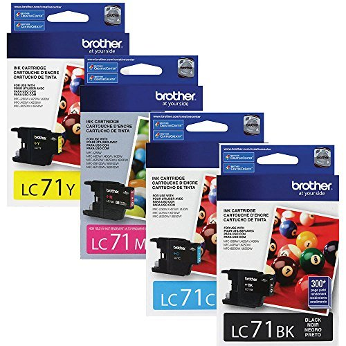 Brother MFC-J825DW Standard Yield Ink Cartridge Set (Ink Cartridges Brother Lc 75)