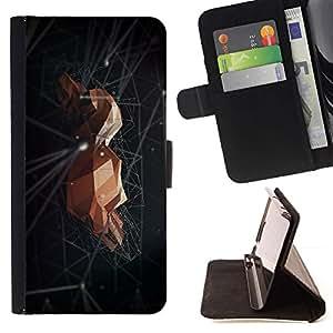 For Samsung Galaxy Note 5 5th N9200 Case , Roca Espacio Negro abstracto minimalista- la tarjeta de Crédito Slots PU Funda de cuero Monedero caso cubierta de piel
