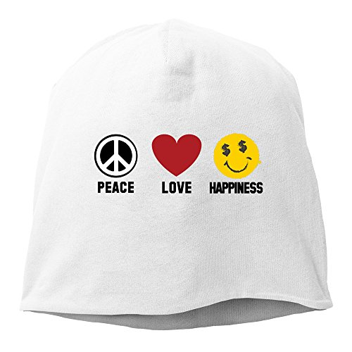 Men Women Peace Love Happiness Knitted Cap Skull (Los Simpsons Halloween Special)