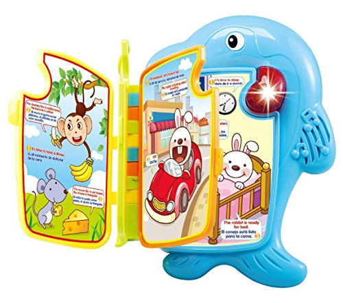Lightahead Dolphin Learning Book with Music and Light in English and Spanish.Making Learning Fun for Kids Toddlers -