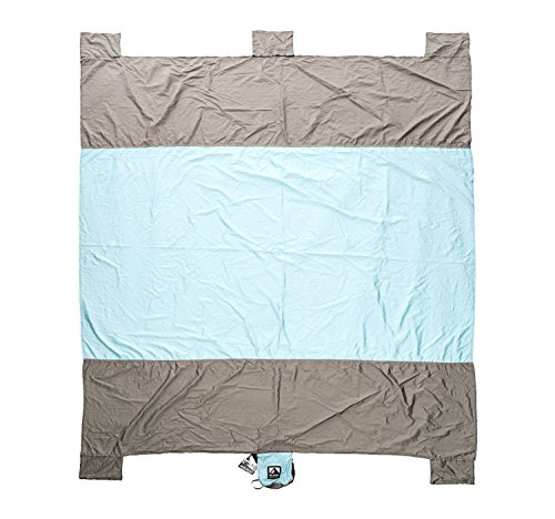 Sand Escape Compact Outdoor Beach Blanket / Picnic Blanket- 7' X 9' 20% Bigger Than Other Blankets. Made From