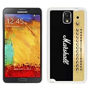 Personality customization DIY Galaxy Note 3 Case Design with Marshall 2 White Phone Case for Samsung Galaxy Note 3 III N900 N9005