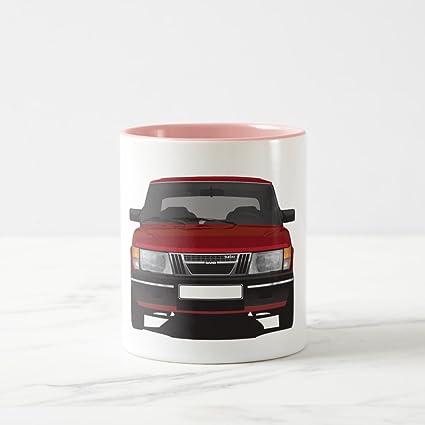 Zazzle Saab 900 Turbo (red) Travel Mug, Pink Two-Tone Mug 11
