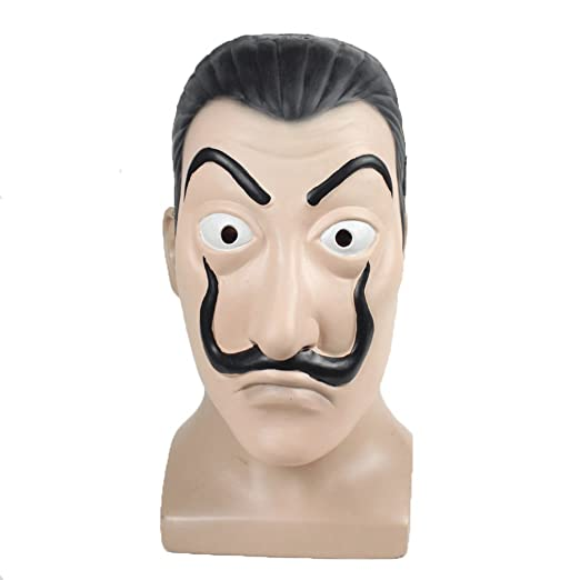 Moniku Salvador Dali La Casa De Papel Realistic Mask (Latex Mask)