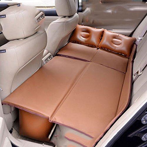 Car Non-inflatable Bed Car Mattress Rear Travel Bed Sedan Rear Seat Suv Sleeping Mat Air Cushion Car Bed (Color : Brown) ()
