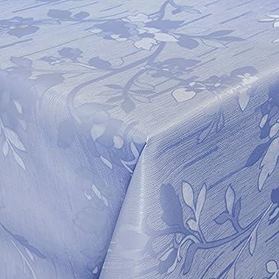 Hule mesa mantel de hule lavable relieve Impresión Azul Longitud a ...