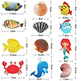 Hotop 12 Pieces Non-Slip Bathtub Stickers, Sea