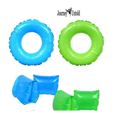BCL Boys Kids Spring Summer (Bonus Pugly Fish) (1) Arm Band & (1) Swim Backyard Float Outdoor Playtime Pool Lake Beach Swim Water Summer Pool Fun ARM Ring: Toys & Games