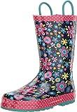 Western Chief Kids Baby Girl's Limited Edition Garden Gala Rain Boot (Toddler/Little Kid) Navy 9 M US Toddler