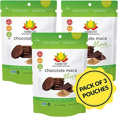 Amrita Foods - Top 14 Allergy Free, Chocolate Maca High Protein Bites, No Added Sugar, Non-GMO