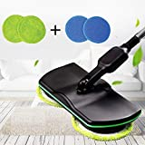 XIAOD Handheld Spinning Mop,Cordless Household Cleaning Mop Rechargeable,Powered Scrubber Polisher Tile Sweeper,Black