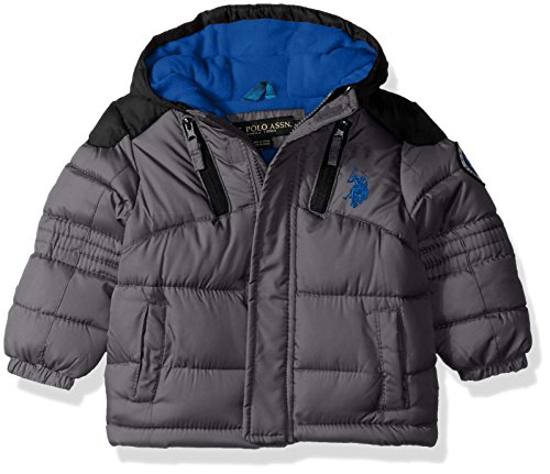 US Polo Association Baby Boys' Outerwear Jacket (More Styles Available), UC07-Charcoal/Black, 12M ()