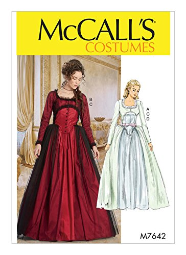 (McCall's Patterns M7642A50 Victorian Dress Costume Sewing Pattern for Women, Sizes 6-14)
