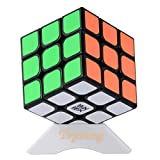 Topsung Moyu Aolong V2 Speed Cube 3x3 Enhanced Edition Smooth Magic Cube Black with Tripod Base