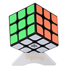 Topsung Moyu Aolong V2 Speed Cube 3x3 Enhanced Smooth Magic Cube Puzzle Black with Tripod Base