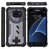TurtleArmor | Compatible for Samsung Galaxy S7 Case | G930 [Grip Combat] Defender Armor Hybrid Impact Shock Silicone Bumper Case Kickstand – Classic Game Controller Review