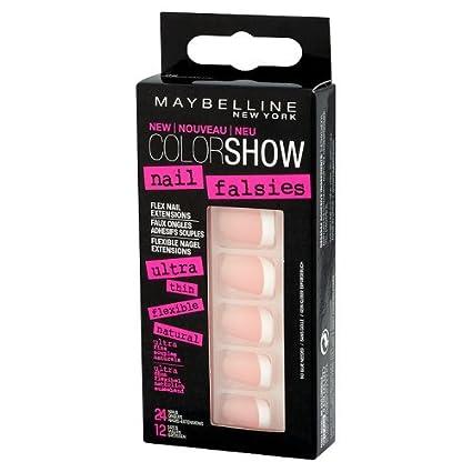 Maybelline - Jade color show, uñas postizas, color francés fanático (1 unidad)