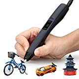 3D Printing Pen, CRITIRON Intelligent Doodler Pen for Kids with OLED Display, 3 Loops of 1.75mm Filament Refills, Storage Bag and Case, for Creating Children's Doodling and Imagination, Black
