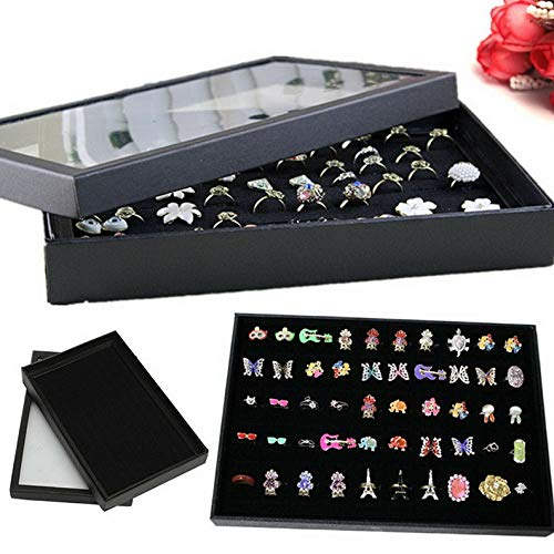 Werrox 100 Ring Black Jewelry Display Storage Box Tray for sale  Delivered anywhere in USA