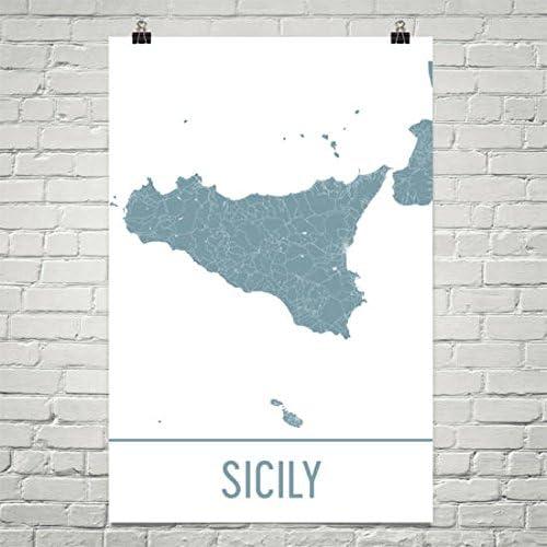 Stampa Cartina Sicilia.Modern Map Art Mappa Sicilia Sicilia Arte Stampa Poster Di Sicilia Italia 24 X 36 Amazon It Casa E Cucina