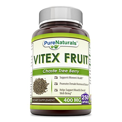 Pure Naturals Vitex Fruit 400 mg 250 Capsules -Supports Womens Health* -Promotes Female Hormonal Balance* -Helps Support Mood & Overall Well-Being