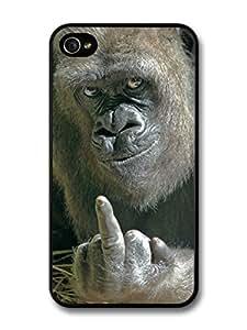 fashion case Rude Gorilla Funny Animal case for iphone 5 5s