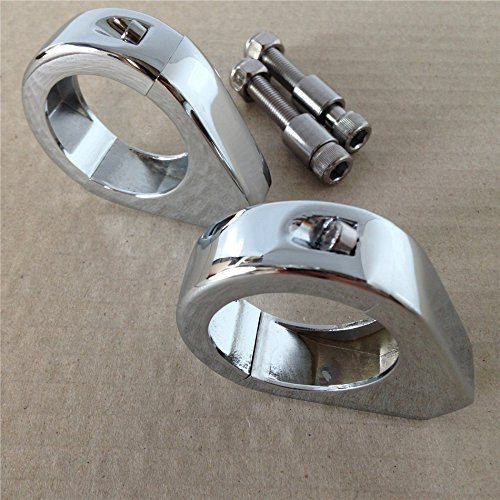 SMT MOTO- Motorcycle Motorcycle Turn signal Clamps for Harley Softail Mount Bracket 39mm Fork Chrome