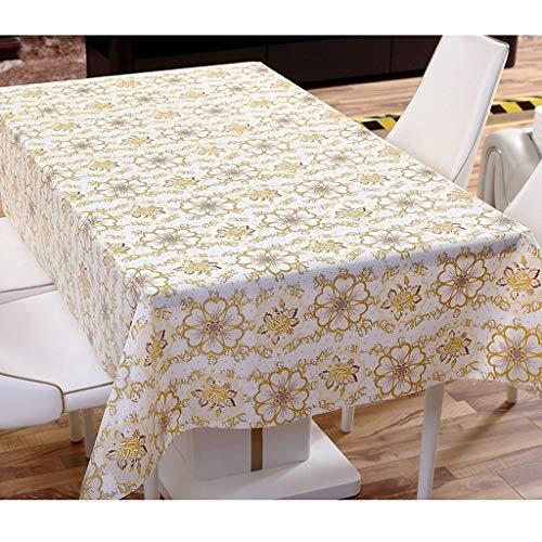 JFFFFWI Rectangular Linen tablecloths Eva Green in Plastic Material of Green Color Ribbon Wallpaper Table Cloth Table Linen Cover (Dimensions:) ()
