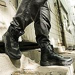 FREE SOLDIER pour Homme Mid Haute durabilité Lacets Bottes Durable Imperméable Armée Combat Chaussures Respirant… 13