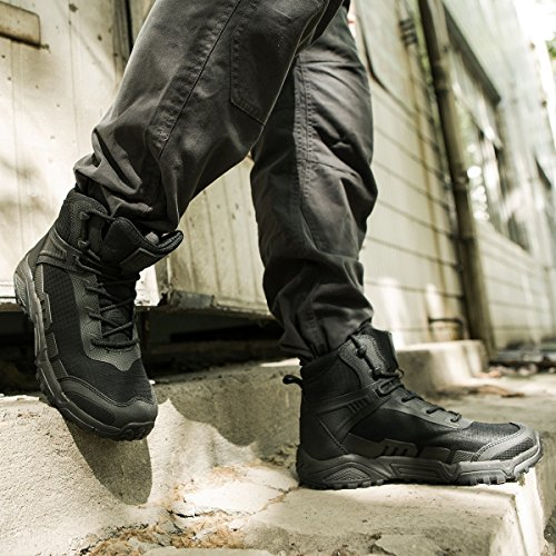 FREE SOLDIER pour Homme Mid Haute durabilité Lacets Bottes Durable Imperméable Armée Combat Chaussures Respirant… 6