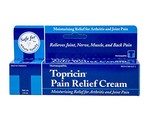 Topricin Pain Relief Therapy Cream (2 oz) Fast Acting Pain Relieving Rub for Back & Neck Aches, Fibromyalgia, Sciatica, Plantar Fasciitis, Sore Muscles & Joints, Carpal Tunnel, Chronic Pain (Salve 2 Oz Cream)