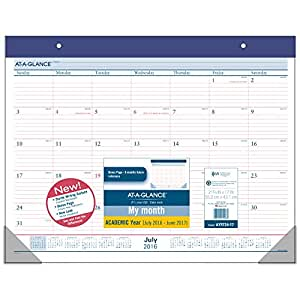Amazon Com At A Glance Academic Year Monthly Desk Pad
