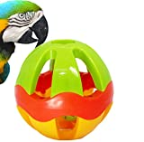 Bonka Bird Toys 2008 HUGE 5'' PLASTIC PET BALL Parrot Foraging Foot Talon Toy, Good for Large Macaws, Cockatoos, Cats, Small Dogs, DIY infant baby ball.