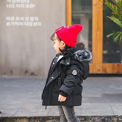 Jacket Windproof Foyeria Baby Outdoor Coat Black For Girls Down Winter Coat Boys Puffer Winter Warm PwHa4S