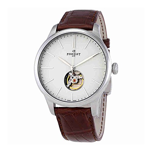 Perrelet First Class Open Heart White Dial Stainless Steel Mens Watch A1087/4
