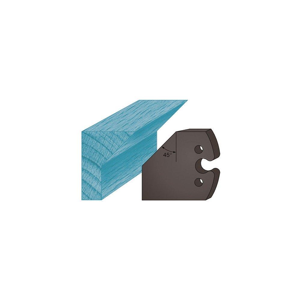 Diamwood Platinum - Jeu de 2 contre-fers profilés Ht. 48 x 5, 3 mm chanfrein 45° A205 pour porte-outils de toupie - Diamwood Platinum 3 mm chanfrein 45° A205 pour porte-outils de toupie - Diamwood Platinum