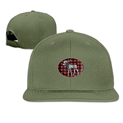 Buffalo Plaid Moose Classic Casual Baseball Caps For Unisex Visor Hats Snapback Workouts