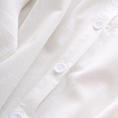 Chemises Bouton Femmes Hauts Casual Lache Poche Asymtrique de Taille Manches Longues Grande GreatestPAK Chemisier Blanc Automne vwr4qCv
