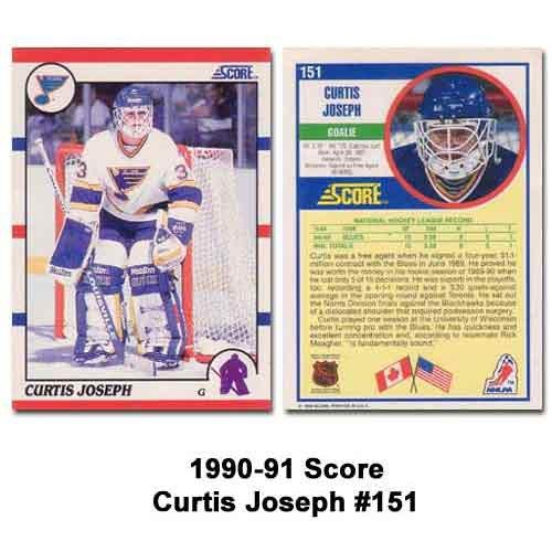 Amazoncom Score 1990 91 Curtis Joseph Rookie Card Sports