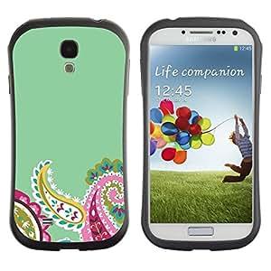 "Hypernova Slim Fit Dual Barniz Protector Caso Case Funda Para SAMSUNG Galaxy S4 IV / i9500 / i9515 / i9505G / SGH-i337 [Los pétalos de la flor del trullo minimalista""]"
