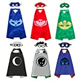 6 Sets Kids Masks Capes Superhero Costume Birthday Party Supplies for Girls Boys