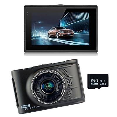 podofo Car Camera Full HD 1080p 170¡ã Wide Angle Car DVR Dash Cam Zinc Alloy Metal Body WDR Vehicle Video Recorder