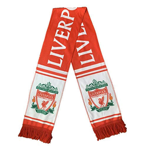 STER-TSP Liverpool FC Authentic Knit Scarf Soccer Double Sided Knitted Scarf Red