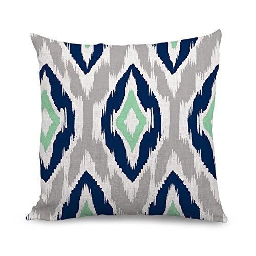 wendana decorative ikat pillow covers blue geometric throw p