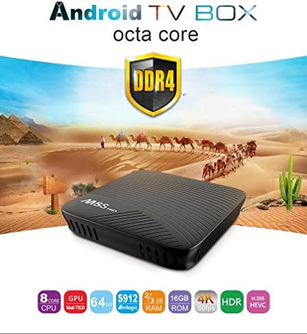 MECOOL M8S PRO TV Box 3GB DDR4 RAM 32GB eMMC Amlogic Octa Core S912 Android 7.1 4K Movies Smart TV Media Player HDR10 802.11AC Dual Band WIFI LAN Bluetooth H.265: Amazon.es: Electrónica