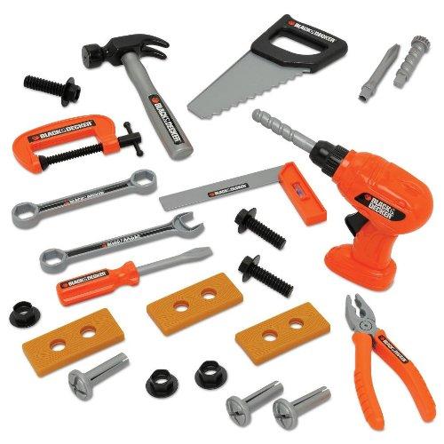 Black & Decker Herramientas Juguetes - 24 Piezas Juego de herramientas