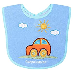 Canpol Babies 15-102 Car Cotton Terry Bib, Blue