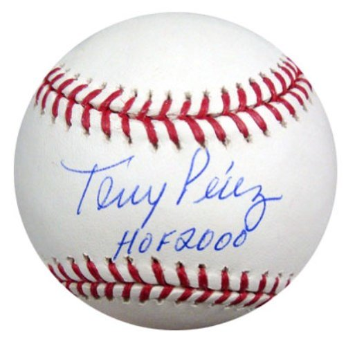 Tony Perez Autographed Official MLB Baseball Cincinnati Reds