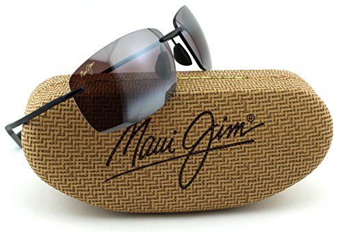 Maui Jim KUMU Unisex Polarized Sunglasses (Gloss Black Frame, Maui Rose Lens - Jim Maui Sunglasses Flexible