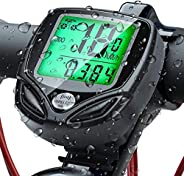 DWSFADA Bike Computer, Unisex Adult Bicycle Wireless Waterproof Speedometer and Odometer, Biking Cycling Acces